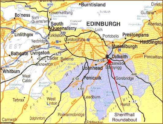Dalkeith-Eskbank Holiday Apartment Map